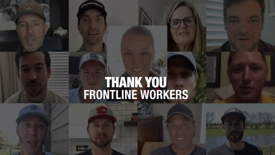 Thanks to frontline workers